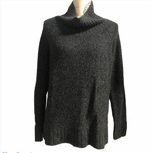 H&M gray oversized mock neck sweater medium